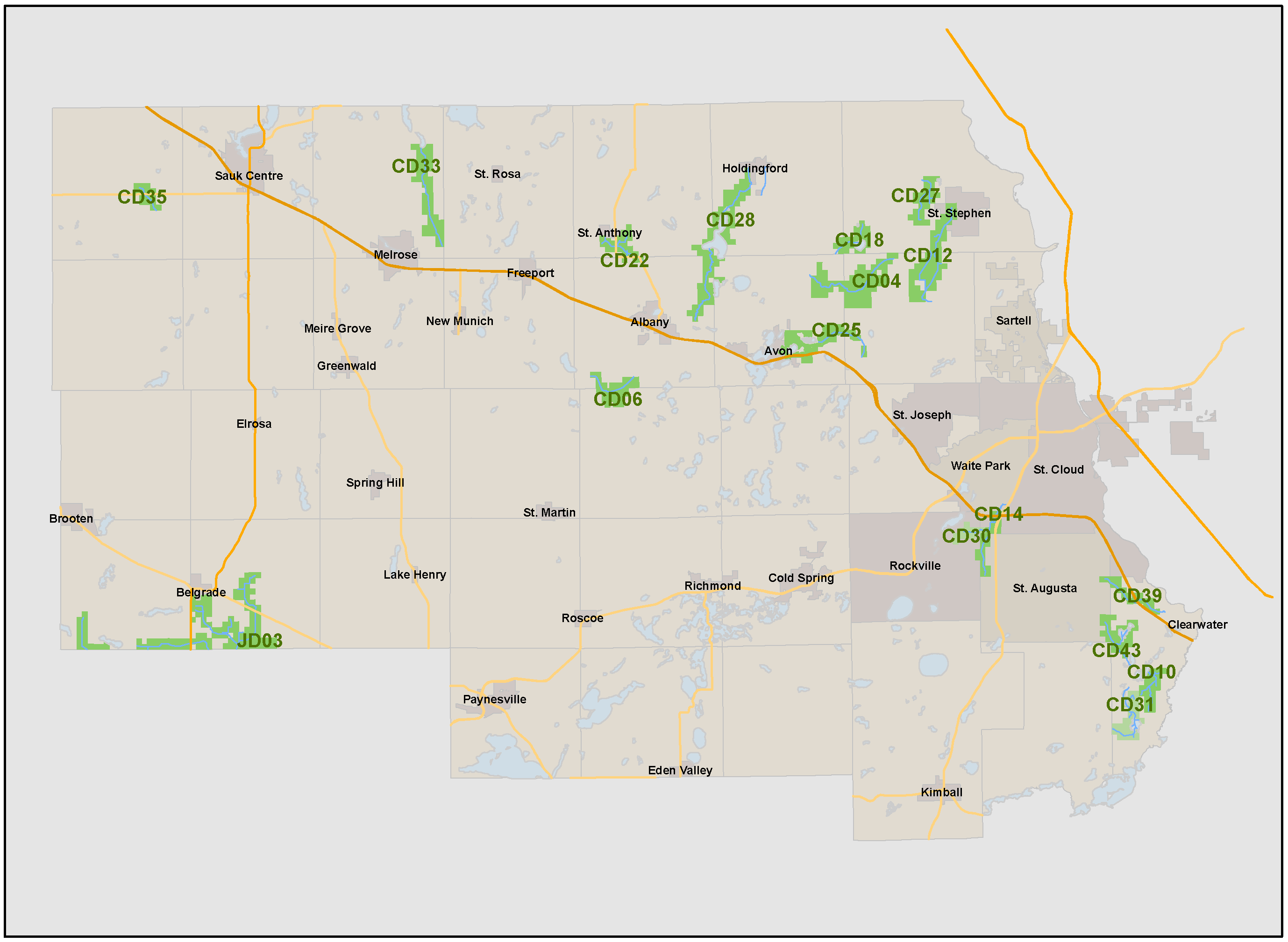 Stearns County Property Map Stearns County Ditch   Public Information